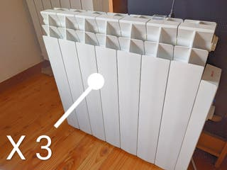 X 3 radiadores eléctricos bajo consumo