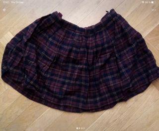 Falda de cuadros Zara talla 9-10