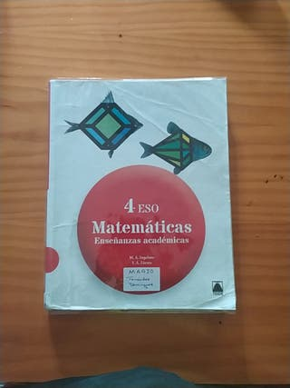 Libro de Matemáticas 4 de eso. Editorial Teide