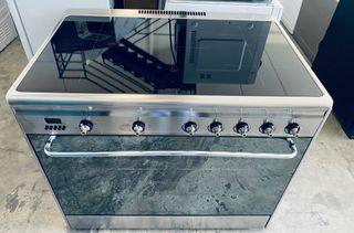 Cocina Smeg SCD90IMX9-1 5 Fuegos Inducción