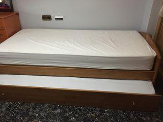 cama nido 90 cm con somieres y colchones