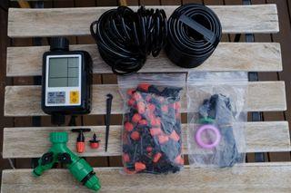 riego automático: programador de riego + kit