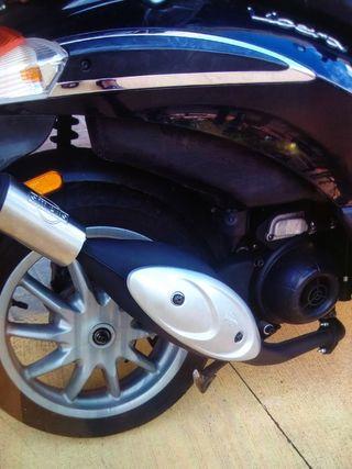 Tubo Escape para motos Piaggio