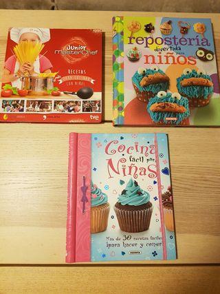 Libros de cocina y reposteria infantiles