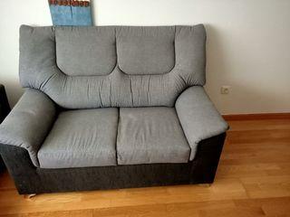 sofá de 2 plazas gris