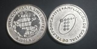 Medalla Telefónica en níquel y plata