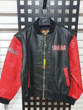 Chaqueta Vintage en Piel Garibaldi Yamaha Nueva!!!