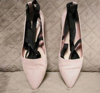 Zapato bailarina lazo