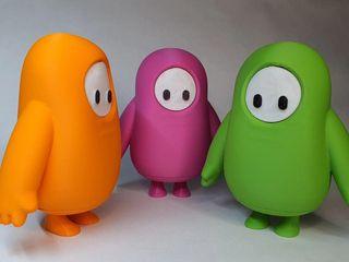 Figura Fall Guys hecha con impresora 3D