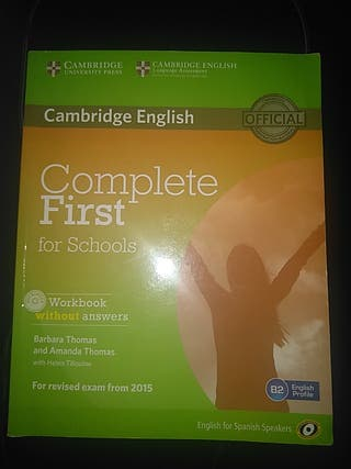 complete first for schools workbook libro ingles