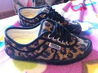Zapatillas Kawasaki leopardo 37