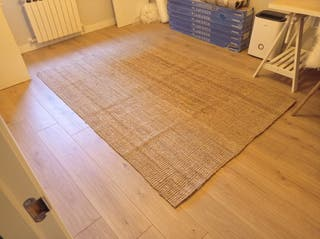 alfombra de yute