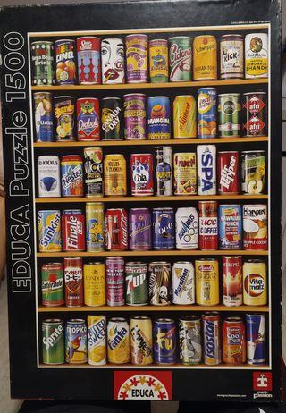 Puzle 1500 piezas latas de bebida