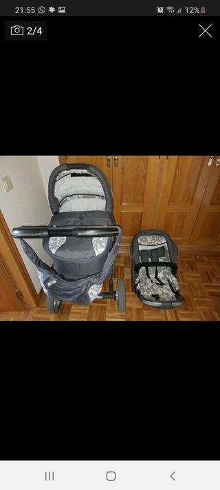 Coche de bebé +silla de paseo +silla de coche