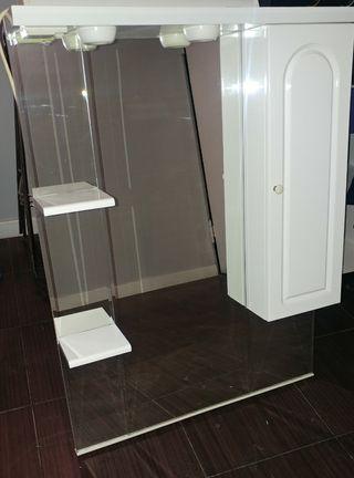 espejo baño con luz/ impecable