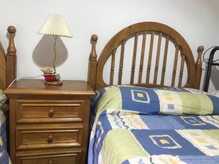2 cabeceros cama 90 cm con mesita
