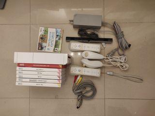 Wii Con 4 mandos y Wii Fit Scale + Juegos