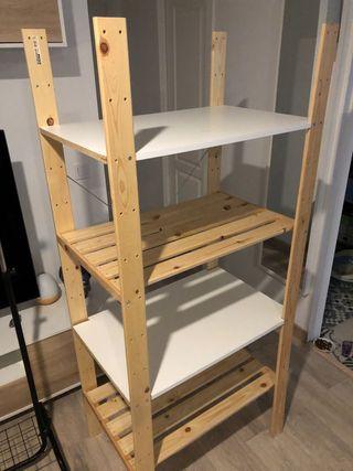 Estanteria almacenaje de madera