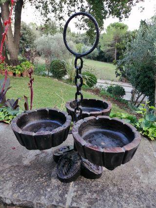 jardinera o frutero rústico