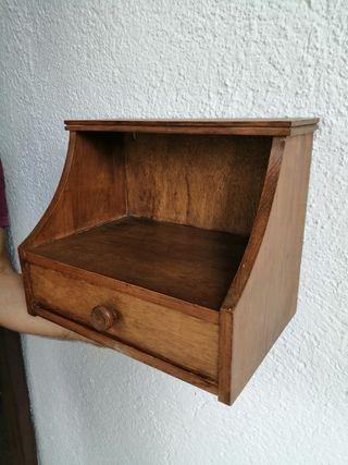 mesita estante de 1 cajón