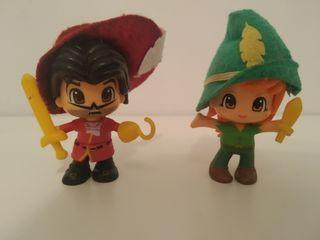 pinypon Peter pan y Garfio