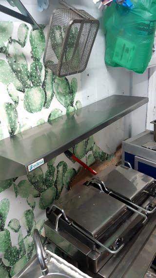 estanteria de acero inox 100larga 25fondo