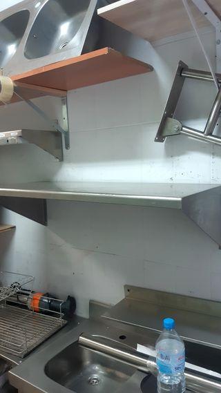 balda o estanteria de acero inox