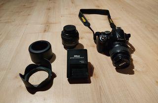 Nikon D3100 DX 18-55mm+objetivo Sigma