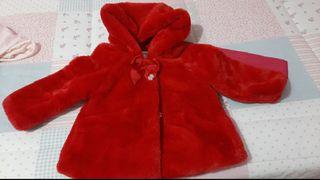 Abrigo con capucha bebé niña