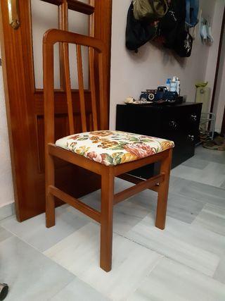 Conjunto 6 sillas comedor (sueltas 20 € unidad)