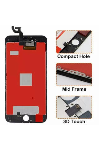 Real iPhone 6s screen replacement with glass prot