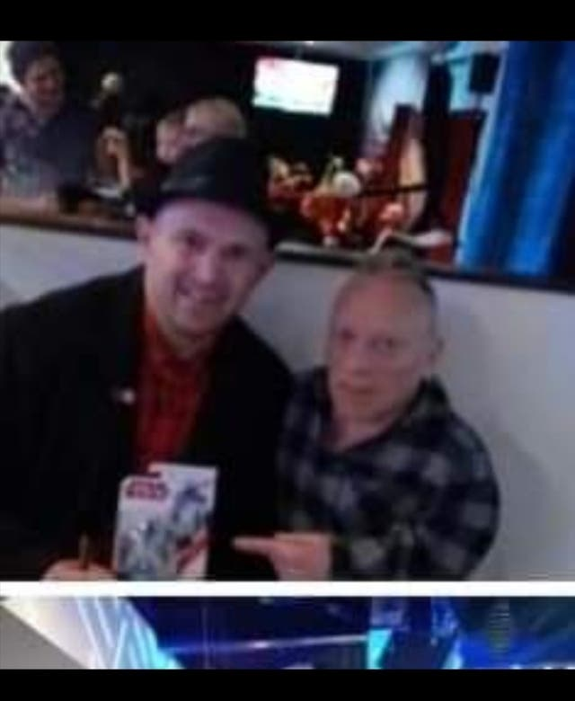 Sighed in person R2-D2 Jimmy Vee action figure.