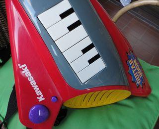 guitarra eléctrica de juguete kawasaki