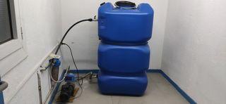Grupo presión agua. Depósito 500L y bomba