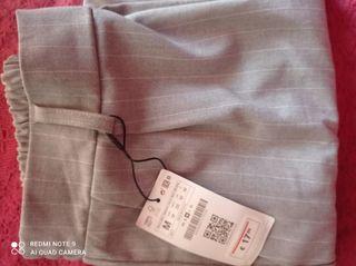Pantalón pinza rayas blancas