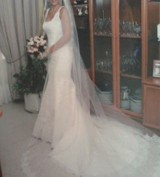 vestido novia y velo