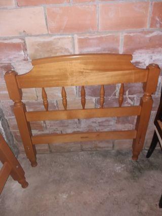 Cabecero de madera para cama de 90 cm