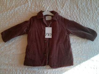 abrigo pana 98cm + camisa