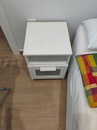 mesita de noche Ikea BRIMNES blanco