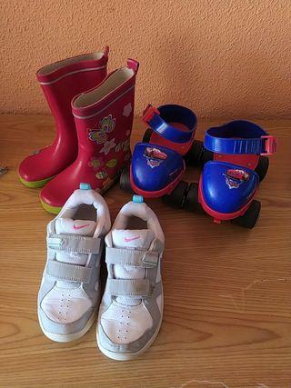 Liquidación niños bambas, patines, botas agua