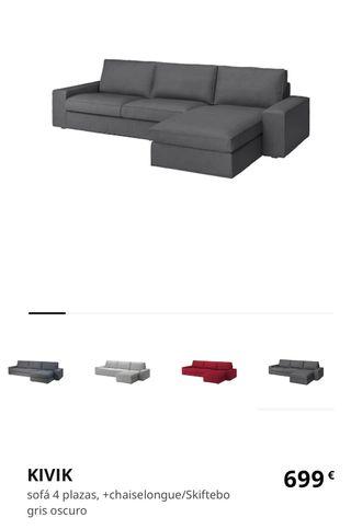 Sofá KIVIK. 4 plazas con chaiselonge