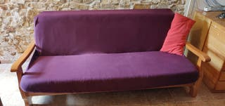 Sofá cama rústico