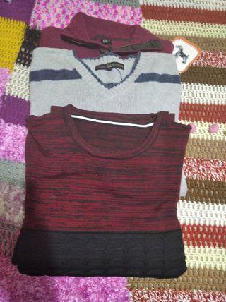 Jersey de lana fina los tres de marca