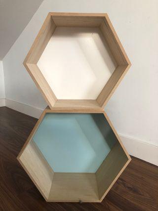 Conjunto cajas decoración madera