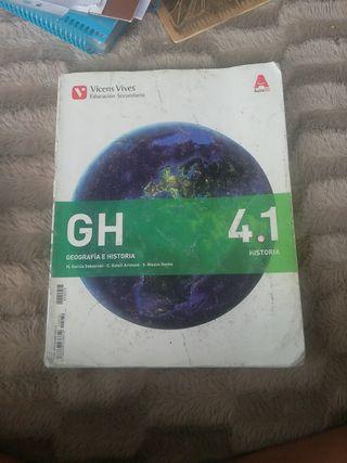 libro geografía e historia 4 ESO