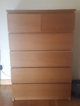 Cómoda MALM IKEA. 6 cajones.