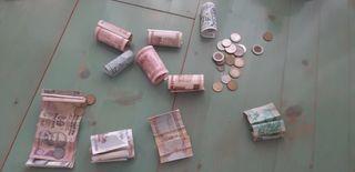 Lote monedas y billetes extranjeros