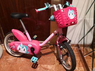 bicicleta btwin decathlon para niña 14 pulgadas