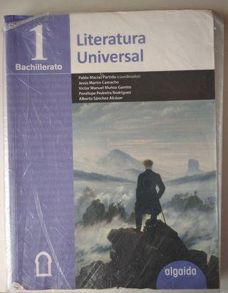 Libro Literatura Universal Algaida 1°Bach