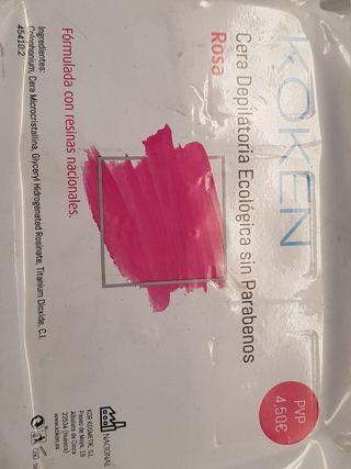 cera depilatoria rosa
